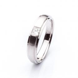 Platinový prsten vzor č. 0112