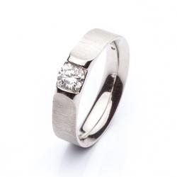 Platinový prsten s diamantem vzor č. 0114