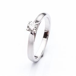 Platinový zásnubní prsten s diamantem vzor č. 0120