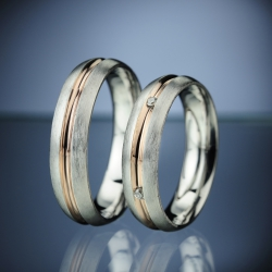 Snubní prsteny s diamanty vzor č. SN13