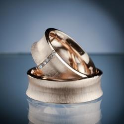 Snubní prsteny s diamanty vzor č. sn43