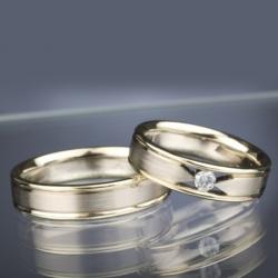 Snubní prsteny s diamantem vzor č. SN39