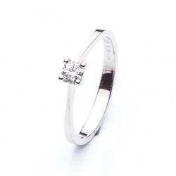 Zásnubní platinový prsten s diamantem vzor č. 0121