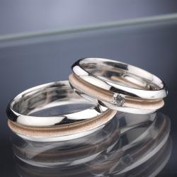 Snubní prsteny s diamantem vzor č. SN48
