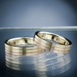 Snubní prsteny s diamanty vzor č. SN50