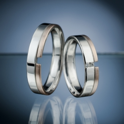 Snubní prsteny s diamanty vzor č. SN57