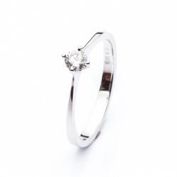 Zásnubní prsten s briliantem vzor č. 0121b