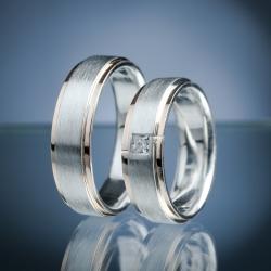 Snubní prsteny s diamantem vzor č. SN59