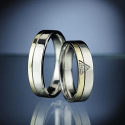 Snubní prsteny s diamanty vzor č. SN76