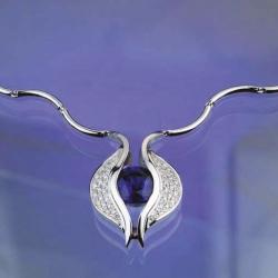 Náhrdelník modrý safír