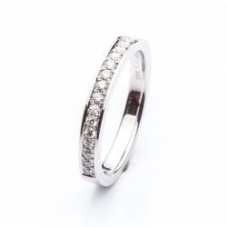 Platinový prsten s diamanty vzor č. 0130