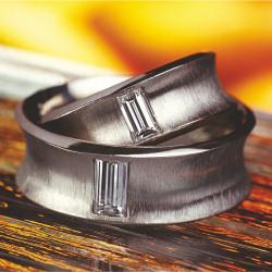 Snubní prsteny baguette