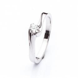 Platinový prsten s diamantem vzor č. 0131