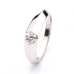 Platinový prsten s diamantem vzor č. 0115