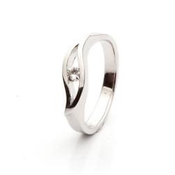 Prsten s dimantem vzor č. 0126