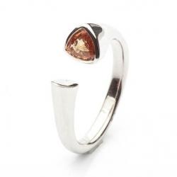 Prsten se žlutým safírem vzor č. 0168