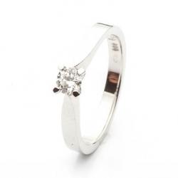 Platinový zásnubní prsten vzor č. 0150