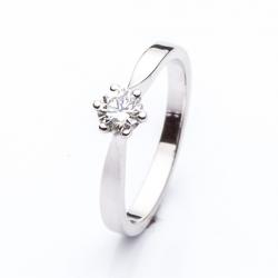 Zásnubní Prsten s briliantem vzor č. 0141