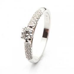 Zásnubní prsten s diamantem vzor č. 0165