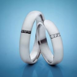Snubní prsteny z platiny s diamanty vzor č. SN18