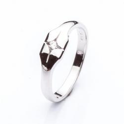 Prsten s diamantem vzor č. 0132