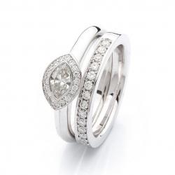 Zásnubní prsten s diamanty vzor č. 0173