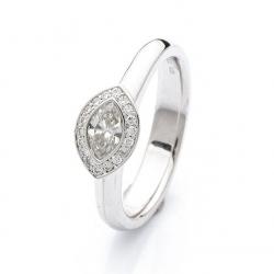 Prsten s diamantem vzor č. 0173