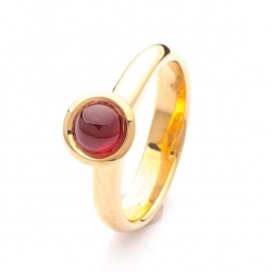 Prsten s rubínem vzor č. 0174