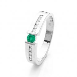 Prsten se smaragdem vzor č. 0145