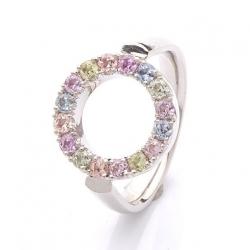 Prsten s barevnými safíry vzor č. 0170