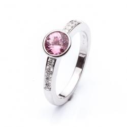 Prsten s růžovým spinelem vzor č. 0129