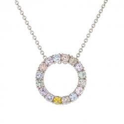 Originální náhrdelník s barevnými safíry vzor č. 0230
