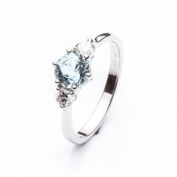 Prsten s Aquamarínem vzor č. 0154
