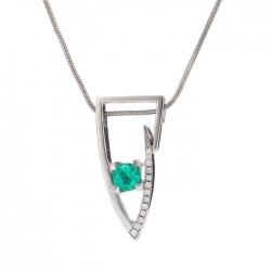 Přívěsek se smaragdem vzor č. 0235
