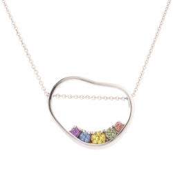 Přívěsek s barevnými safíry vzor č. 0233
