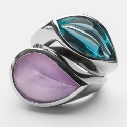 Prsteny s polodrahokamy