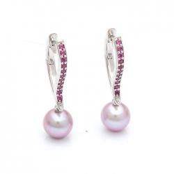 Náušnice s broušenými perlami vzor č. N0062