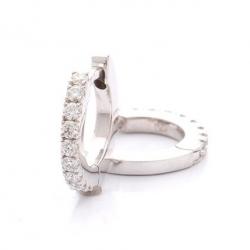 Náušnice kroužky s diamanty vzor č. 0075