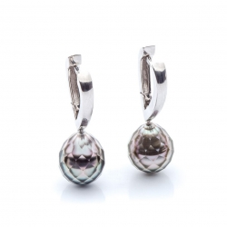 Náušnice s broušenými tahitskými perlami vzor č. 0069