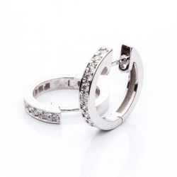 Náušnice kreole s diamanty vzor č. 0007