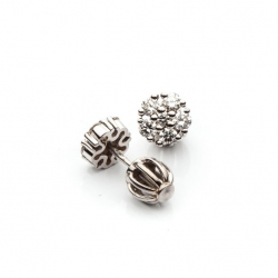 Náušnice s diamanty - kytička vzor č. 0024