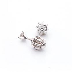 Náušnice s diamanty vzor č. 0025