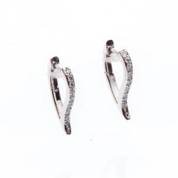 Náušnice slzy s diamanty vzor č. 0062