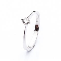 Zásnubní prsten s diamantem vzor č. 0121b