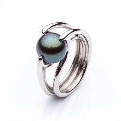 Prsten s tahitskou perlou vzor č. 0105