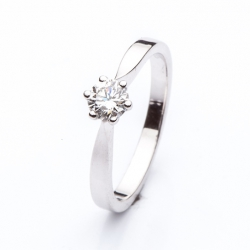 Zásnubní prsten s diamantem vzor č. 0141