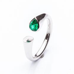 Prsten kapka Smaragd vzor č. 0136